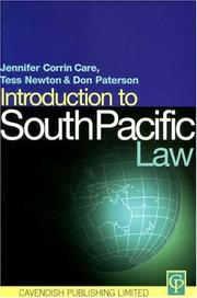 Cover of: Introduction to South Pacific Law