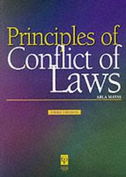 Cover of: Principles of Conflict of Laws (Principles of Law Series)