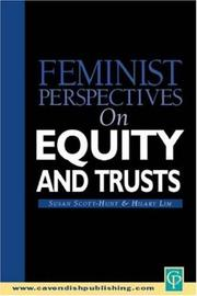 Cover of: Feminist Perspectives on Equity and Trusts (Feminist Perspectives Series) | Scott-Hunt & Li