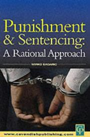 Cover of: Punishment and sentencing |