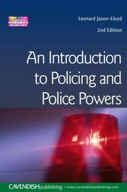 Cover of: Introduction To Policing & Police Powers