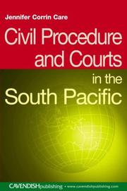 Cover of: Civil procedure and courts in the South Pacific
