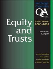 Cover of: Equity & Trusts Q&A 2006-2007 4/e (Q&a)