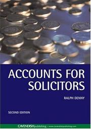 Cover of: Accounts for Solicitors