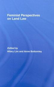 Cover of: Feminist Perspectives on Land Law (Feminist Perspectives)