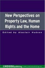 Cover of: New Perspectives on Property Law