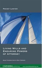 Cover of: Living Wills and Enduring Powers of Attorney 2/e (Pocket Lawyers)