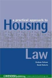 Cover of: A Practical Approach to Housing Law
