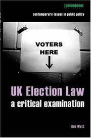 Cover of: UK Election Law