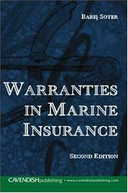 Cover of: Warranties in Marine Isurance