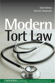 Cover of: Modern Tort Law 6/e
