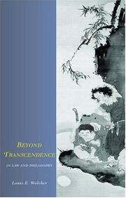 Cover of: Beyond Transcendence in Law and Philosophy