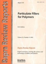 Cover of: Particulate Fillers for Polymers (Rapra Review Reports) | R. N. Rothon