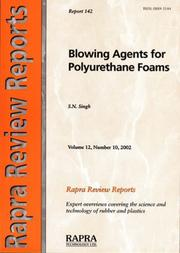 Cover of: Blowing Agents for Polyurethane Foams (Rapra Review Reports)