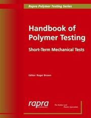 Cover of: Handbook of Polymer Testing