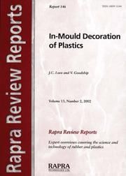 Cover of: In-mould Decoration of Plastics (Rapra Review Reports) | J. C. Love