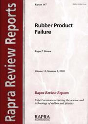 Cover of: Rubber Product Failure (Rapra Review Reports)
