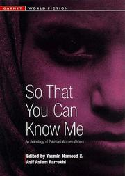 Cover of: So That You Can Know Me |