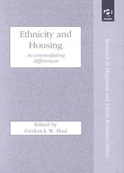 Cover of: Ethnicity Housing
