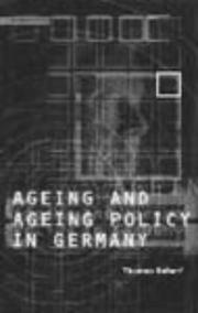 Cover of: Ageing and ageing policy in Germany