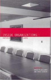 Cover of: Inside organizations |