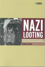 Cover of: Nazi looting
