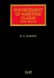 Cover of: Enforcement of Maritime Claims (Lloyd
