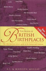 Cover of: book of British birthplaces | A. J. Mullay