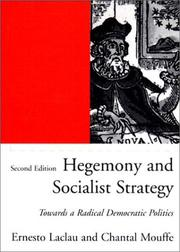 Cover of: Hegemony and socialist strategy | Ernesto Laclau