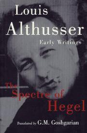 Cover of: The spectre of Hegel: early writings