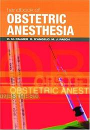 Cover of: Handbook of Obstetric Anesthesia (Clinical References) |