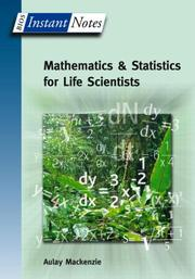 Cover of: Instant Notes in Mathematics and Statistics for Life Scientists (Instant Notes)