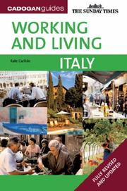 Cover of: Working & Living Italy, 2nd (Working & Living - Cadogan)