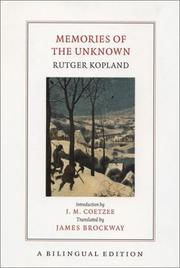 Cover of: Memories of the Unknown