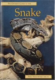 Cover of: The Pet Owner's Guide to the Snake (Pet Owner's Guide S.)