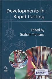 Cover of: Developments in Rapid Casting (Automotive Engineer Recommended (PEP))
