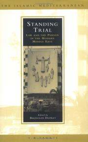 Cover of: Standing Trial