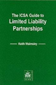 Cover of: The ICSA Guide to Limited Liability Partnerships (ICSA Guides)