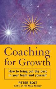 Cover of: Coaching for Growth