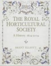 Cover of: The Royal Horticultural Society
