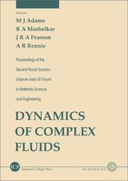 Cover of: Dynamics of Complex Fluids