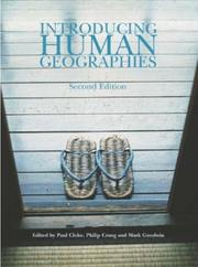 Cover of: Introducing Human Geographies (Hodder Arnold Publication) | Paul Cloke, Philip Crang, Mark Goodwin