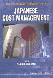 Cover of: Japanese Cost Management (Series on Technology Management) | Yasuhiro Monden