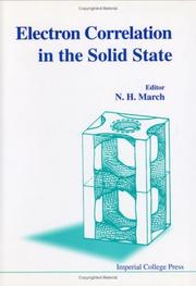 Cover of: Electron Correlation in the Solid State
