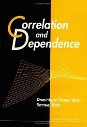 Cover of: Correlation and Dependence