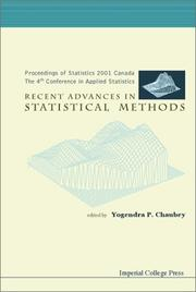 Cover of: Recent Advances in Statistical Methods: Proceedings of Statistics 2001 Canada