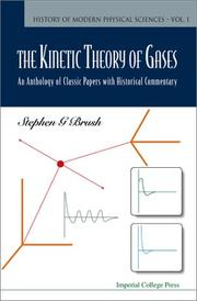 Cover of: The kinetic theory of gases