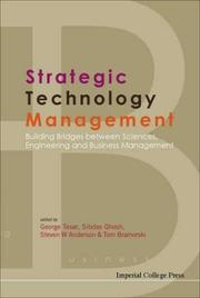 Cover of: Strategic technology management |