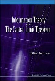 Cover of: Information Theory And The Central Limit Theorem