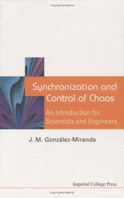 Cover of: Synchronization And Control Of Chaos